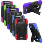 Phone Case For Straight Talk LG L34c Optimus Fuel Hybrid Hard Cover with Stand