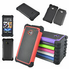 New Shock Proof Armor Heavy Duty Hybrid Hard Case Cover For HTC One M7 (2013)