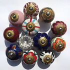 Ceramic porcelain cupboard china  door knobs 12 types Glass doorknobs and pulls