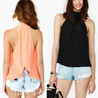 Women Summer Loose Casual Chiffon Sleeveless Vest Shirt Tops Blouse Ladies S -XL