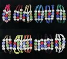 YOU PICK Punk Leather Wristband Magnetic Buckle Mixtz Rhinestones Bracelets(050)