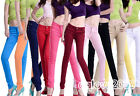 Ladies 11 Color Stretch Candy Pencil Pants Casual Slim Fit Skinny Jeans Trousers