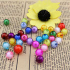 100Pcs 10mm-14mm Round ACRYLIC BEAD in BEAD Miracle Illusion Beads Mixed Colors