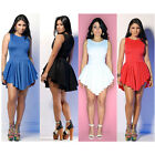 Celeb Style Sexy Women Pleated Irregular Hem Mini Dress Lady Club Party Cocktail