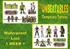THE UNBEATABLES cinema film inspired temporary TATTOOS waterproof  LAST1 WEEK+