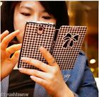 Houndstooth Butterfly Leather Case For Samsung S3/S4/S5/N2/N3, iphone 4s/5/5s/5c