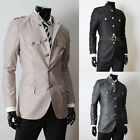 Men's Chinese Tunic Suit Korean Sexy Skinny Single Breasted Coat Jackets Outwear