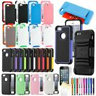 Shockproof Dirt Dust Proof Hard Cover Case For iPhone 5 5S + Screen Protector