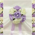 WEDDING FLOWERS GIRL BRIDESMAID BOUQUET POSY FOAM ROSES SWEET LILAC +OTHER COLOU