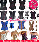 Free Shipping Vintage Goth Punk Corset top sexy boned Overbust Basques Costume