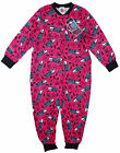 Girls Monster High Cotton Onesie Popper Sleepsuit Pyjamas Pink 4-10yrs NEW