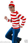 Adult Where's Waldo Costume Kit Licensed Elope FREE USA SHIPPING 400132