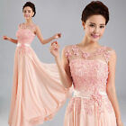Beautiful Pink Long Formal Evening Prom Party Dress Bridesmaid Dresses Ball Gown
