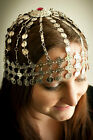 Chain head piece hat coin gold silver belly dancer tribe gypsy costume