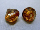 12mm 30/50/100/200pcs CLEAR SIENNA FACETED ACRYLIC LUCITE BICONE BEADS TY2943