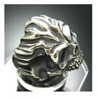2009 Fire Lord Skull Ring 925 Sterling Silver Design by Moon Silver - No.83