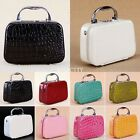 PU Leather Vanity Make Up Cosmetic Beauty Nail Jewelry Box Case Lockable Bag