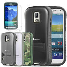 Hybrid Case Cover Protector Kickstand + Matte Film For Samsung Galaxy S5 Active