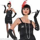 Adults 1920's Gatsby Flapper Gangster's Moll Fancy Dress Costume - Size 8-16