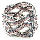 Zest Beaded Plait Cuff Bangle
