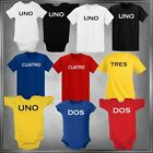 Fun Birthday Tee 1-5 In Spanish  Infant One-Piece or T-Shirt 6 mos - Small Youth