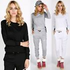 2PCS NEW Womens Sportwear Sweater Hoodies Blouse Pant Tracksuits Set EN24H