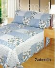 Quilted Patchwork Bedspread 100% Cotton Single Double King Gabriella