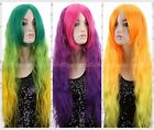 Lady Women Heat Resistant Curly Long 70cm Wig Women Colorful Coplay Party Wigs