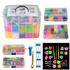 15000 x Rainbow Colourful Rubber Loom Bands Bracelet DIY Making Kit &Doll Charms