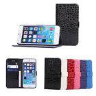 Crocodile Style Leather Case Wallet Stand Cover For Apple iPhone 6 iPhone 6 Plus