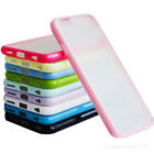 "CLEAR HARD BACK SILICONE BUMPER TPU CASE COVER FOR APPLE IPHONE 6 AIR 4.7"" AIR"