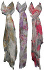 X72 LADIES DESIGNER CELEBRITY STORE FLORAL DESIGN FASHION SCARF SHAWL WRAP 3cols