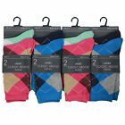 L96 LADIES DESIGNER 12prs ARGYLE DIAMOND DESIGN SOCKS WOMENS RETRO PATTERN SOCKS