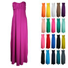 F49 LADIES SLEEVELESS BANDEAU BOHO LONG MAXI DRESS WOMENS PLUS BIG SIZES 22-32