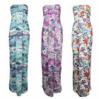 F76 LADIES RETRO STRAPLESS SLEEVELESS BANDEAU GRECIAN LONG BOHO MAXI DRESS 8-14