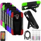 For Motorola Moto G LTE Case Hybrid Cover Stand+ USB Charger + Screen Guard +Pen