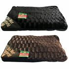 LARGE SOFT LUXURY WASHABLE DOG PET BED MATTRESS PAD PILLOW FLEECE CUSHION BROWN
