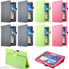 Folio Stand Leather Case Smart Cover For Samsung Galaxy Tab 3 P5200 Tab S T800