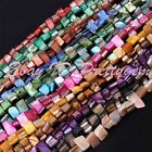 3x7-5x9mm Freeform Shell Mop Gemstone Spacer Beads For DIY Jewelry Making 14""