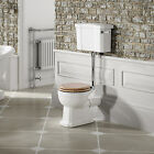 White Traditional Ceramic Toilet & Cistern Bathroom Low & High Level Luxury Pan