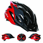 NEW - ARINA RAID MOUNTAIN BIKE HELMET MTB BLACK/RED (FREE NEXT DAY DELIVERY)