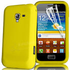SILICONE SKIN CASE COVER & SCREEN PROTECTOR FOR SAMSUNG GALAXY ACE PLUS S7500
