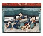 """CHINESE SCHOOL """"Nursing Mothers With Babies"""" ON CANVAS! various SIZES, BRAND NEW"""