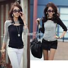 Pullover Women Shirt Tops Blouse Neck Hollow Autumn New Sexy Slim Fitted S0BZ