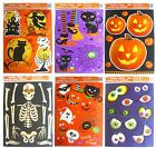 HALLOWEEN WINDOW CLINGS Party Decorations {Pumpkins Skeletons Eyeballs Witches}