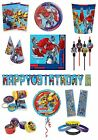 TRANSFORMERS Birthday PARTY RANGE (Tableware Balloons & Decorations)