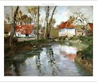 """FRITS THAULOW """"Dairy At Quimperle"""" Landscape ON CANVAS various SIZES, BRAND NEW"""