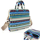 "Canvas Bohemian Style 12""13""14""15"" Laptop Case Handle Bag Shoulder Sleeve Pouch"