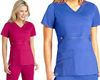 Womens Mock Wrap Cross Sport STRETCH Medical Nursing Uniform SCRUB TOP 21-COLORS