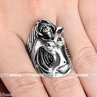 1x Punk Vintage Stainless Steel Death Angel Goddess Biker Mens Carved Ring Gift